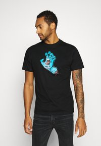 Santa Cruz - unisex Screaming hand - Print T-shirt - black - 0