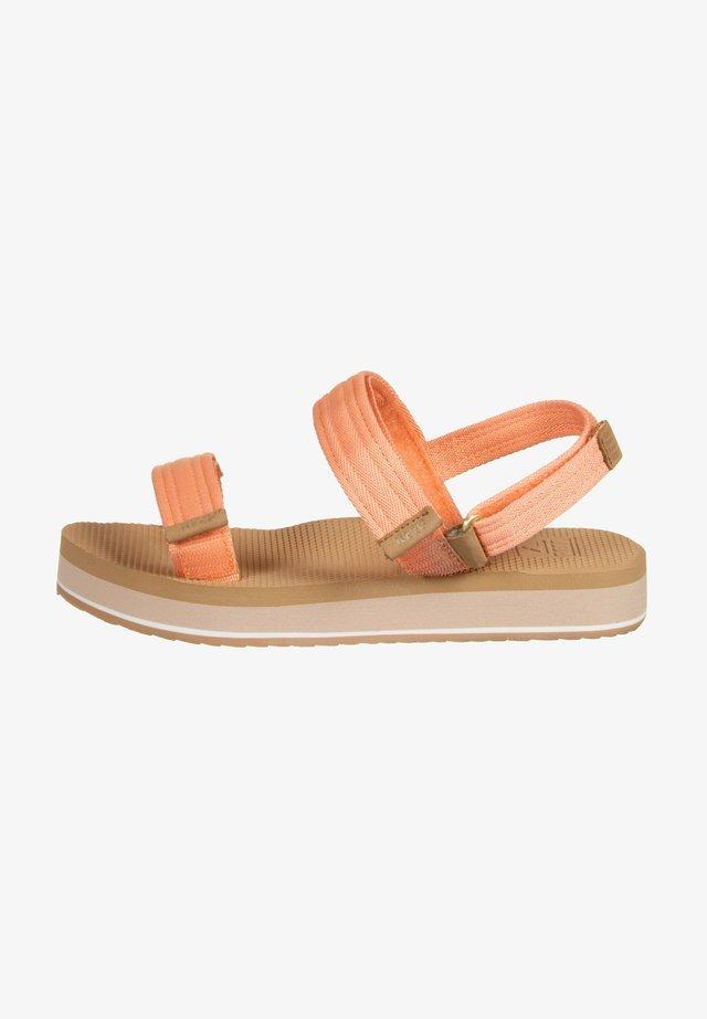 Sandales à plateforme - cantaloupe