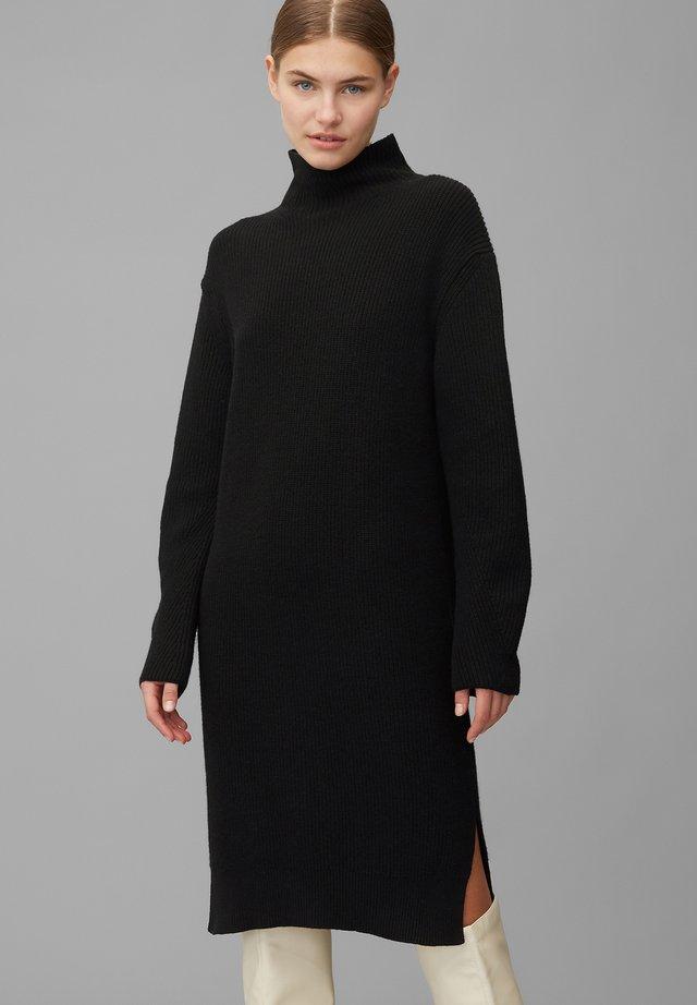 Gebreide jurk - pure black