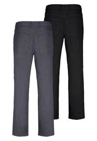 Jan Vanderstorm - TEJA 2 PACK  - Trousers - black/grey - 1