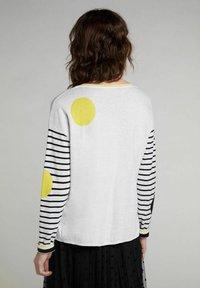 Oui - Jumper - grey yellow - 2