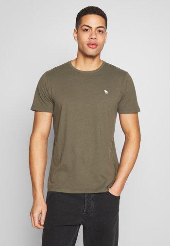 CREW MULTIPACK 5 PACK - Basic T-shirt - green/blue/white/red/grey