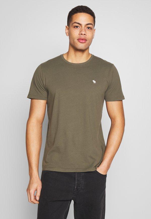 Abercrombie & Fitch CREW MULTIPACK 5 PACK - T-shirt basic - green/blue/white/red/grey/zielony Odzież Męska IDJK