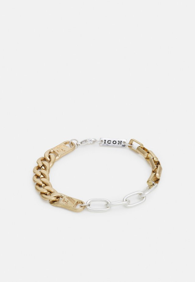 ALL MIXED UP CHAIN BRACELET - Náramek - silver-coloured/gold-coloured