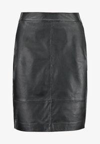 Gestuz - CHAR - Falda de cuero - black - 7