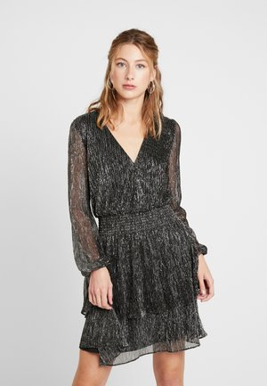 KATIE PLISSE WRAP - Cocktail dress / Party dress - metallic grey