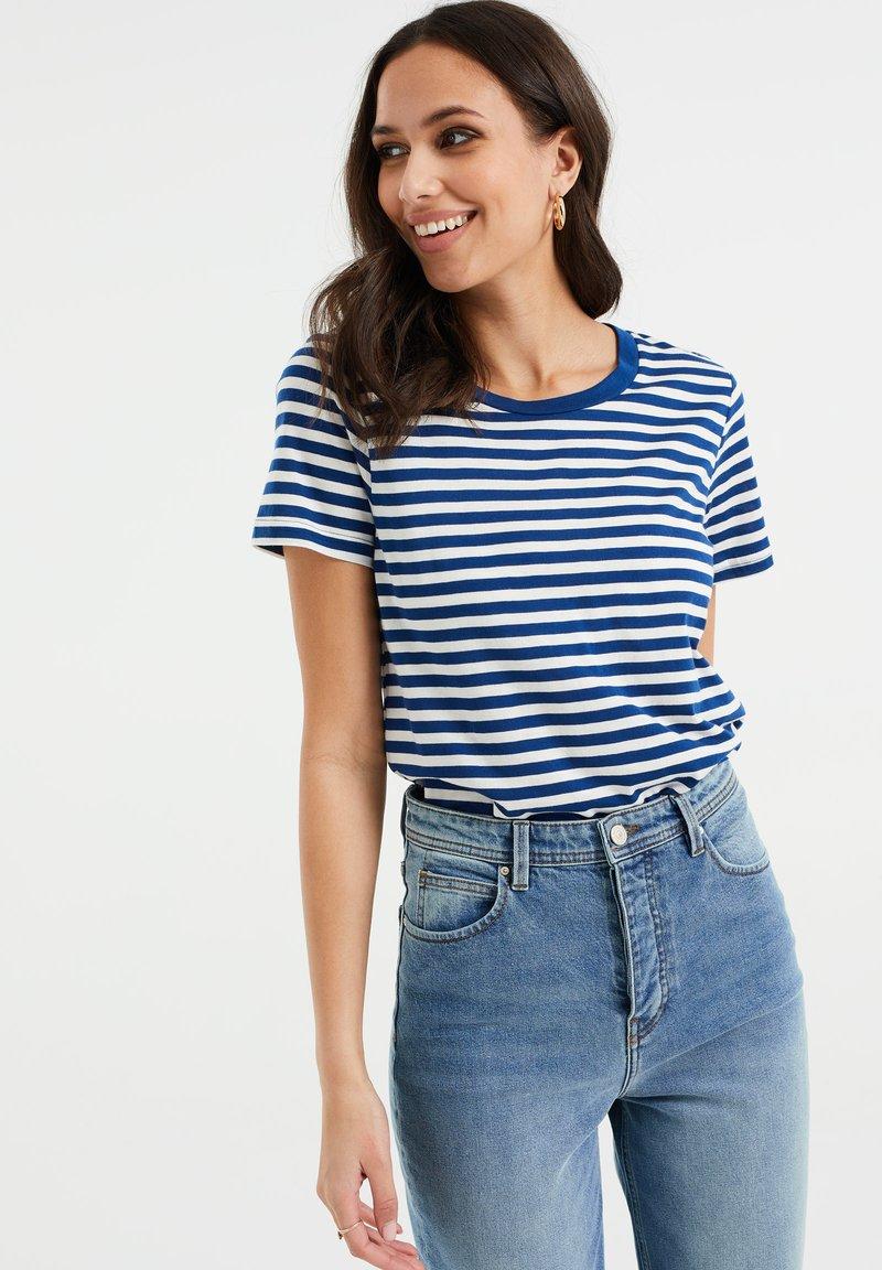 WE Fashion - Print T-shirt - cobalt blue
