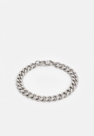 CUBAN LINK CHAIN WITH LOBSTER CLASP UNISEX - Bracelet - silver-coloured