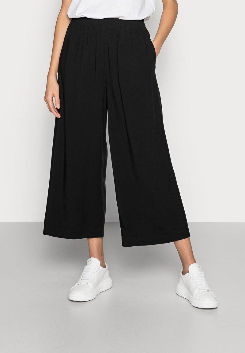 Esprit - FLOATY PANTS - Trousers - black