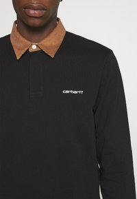Carhartt WIP - RUGBY POLO - Polo shirt - black/hamilton brown/white - 5
