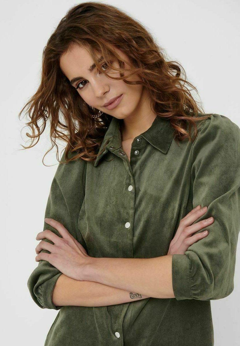 Damer ONLRILLA PUFF DRESS - Skjortekjole