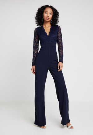 BRIDESMAID LACE TOP JUMPSUIT - Jumpsuit - navy
