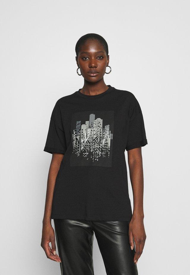 SKYLINE - T-shirts print - black