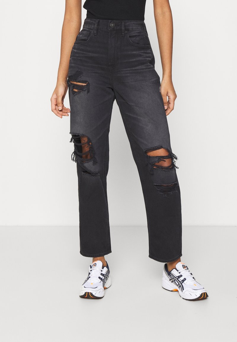 American Eagle - 90'S BOYFRIEND - Relaxed fit jeans - black blaze