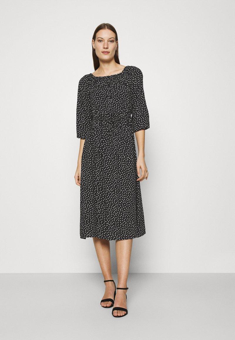 LASCANA - MIDIKLEID - Day dress - schwarz/weiß