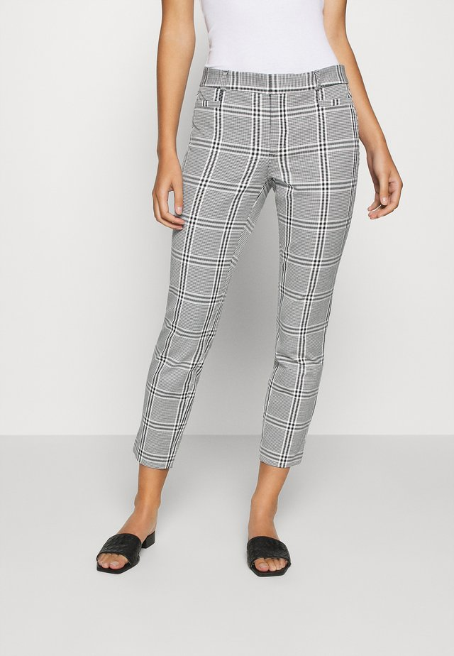 MODERN SLOAN KIKI PLAID - Broek - black/blanco