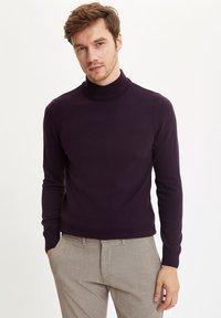 DeFacto - Stickad tröja - purple - 2