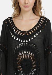 IZIA - IZIA TUNIKAKLEID - Day dress - schwarz - 3