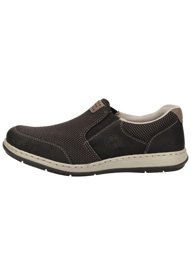 RIEKER SNEAKER - Sneakers basse - schwarz/grau-schwarz/polvere 00
