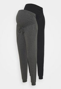 Anna Field MAMA - 2 PACK - Joggebukse - black/ dark grey - 0