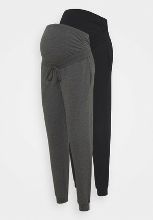 2 PACK - Tracksuit bottoms - black/ dark grey