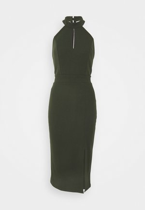 JAYNE LEE HALTER NECK DRESS - Robe de soirée - khaki