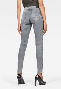G-Star - LYNN MID SKINNY - Jeans Skinny Fit - faded industrial grey - 1