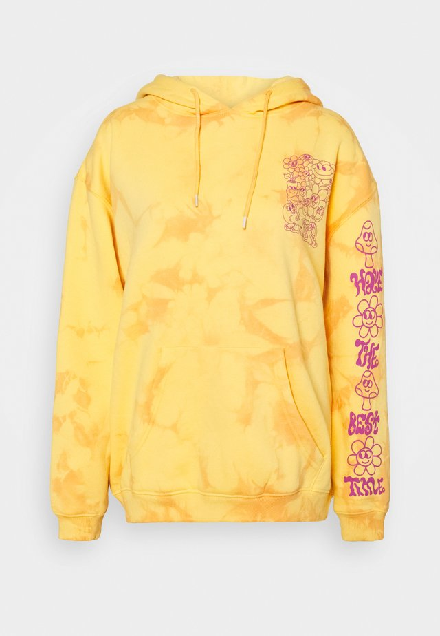 HAVE THE BEST TIME TIE DYE HOODY - Jersey con capucha - orange