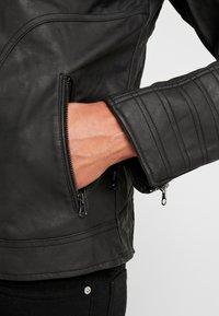 INDICODE JEANS - CHENIES - Faux leather jacket - black - 6