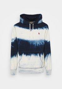 INDIGO COTTON-BLEND HOODIE - Sweatshirt - dark indigo cloud wash
