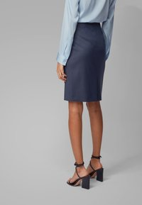 BOSS - VIKENA - Pencil skirt - dark blue - 2