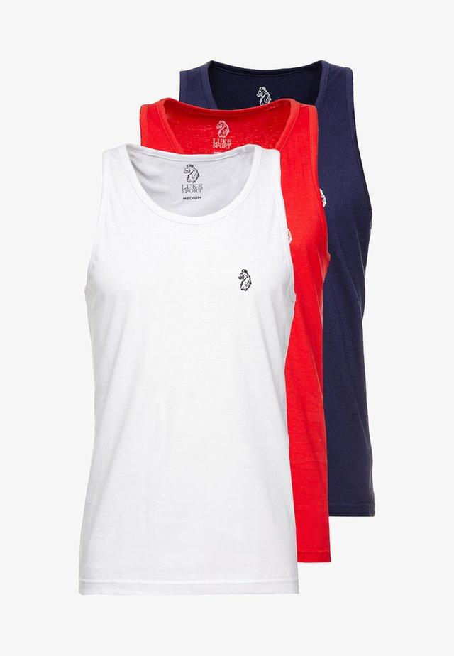 JOHNNY CONCRETE 3 PACK - Débardeur - navy/white/red