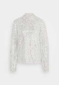 Nly by Nelly - HIGH NECK SEQUIN BLOUSE - Topper langermet - grey - 4