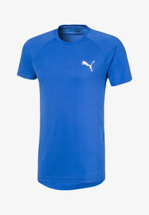 PUMA EVOSTRIPE MEN'S TEE MAN - Basic T-shirt - palace blue