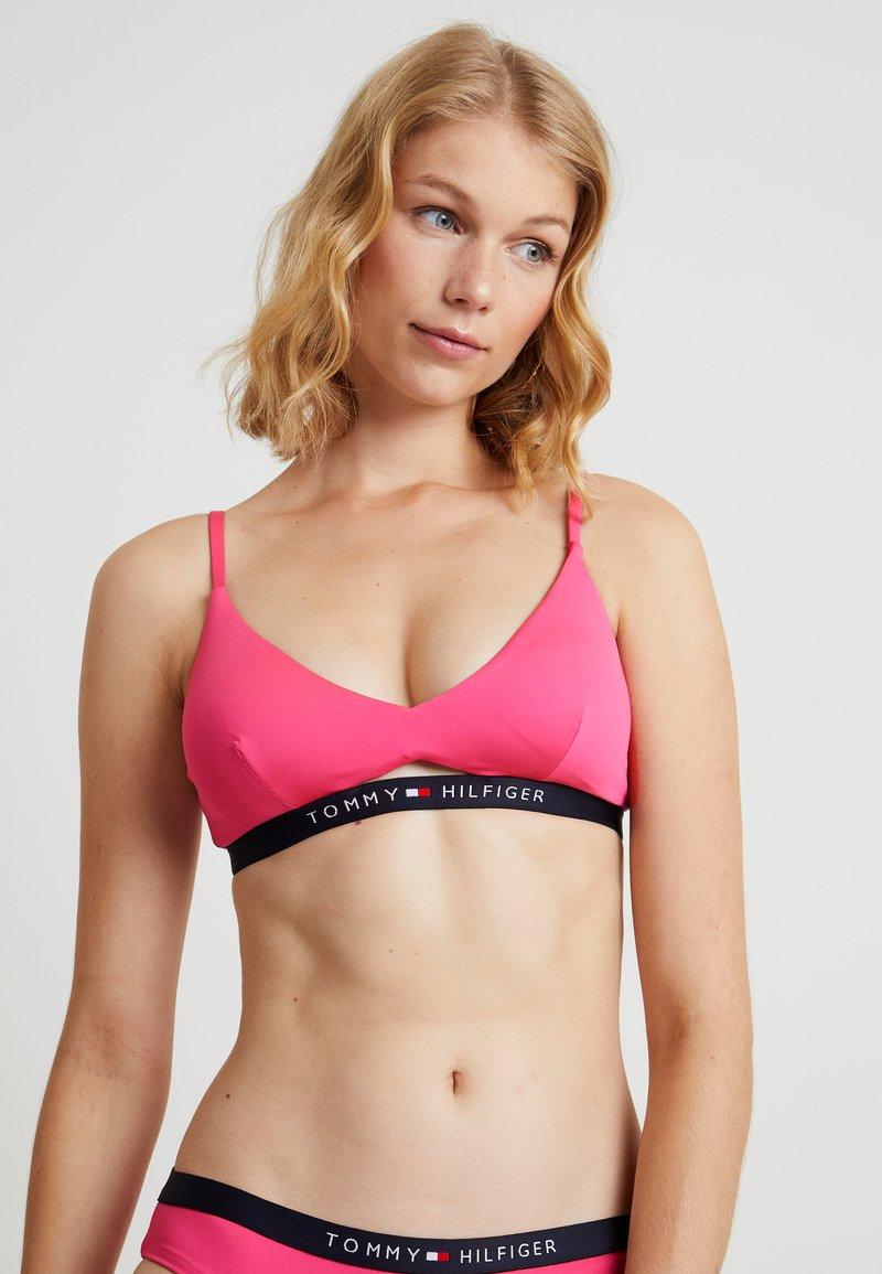 Tommy Hilfiger - CORE SOLID LOGO - Bikini top - shocking pink