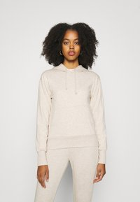 Even&Odd - REGULAR FIT HOODIE WITH FRONT POCKET - Jersey con capucha - beige - 0