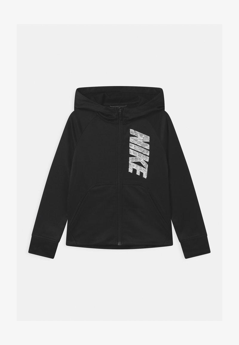 Nike Performance - THERMA HOODIE - Sportovní bunda - black/white