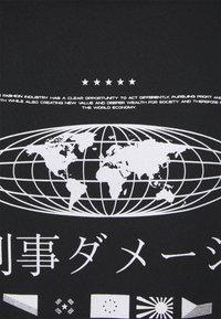NU-IN - GLOBE HOODIE - Sweat à capuche - black - 2