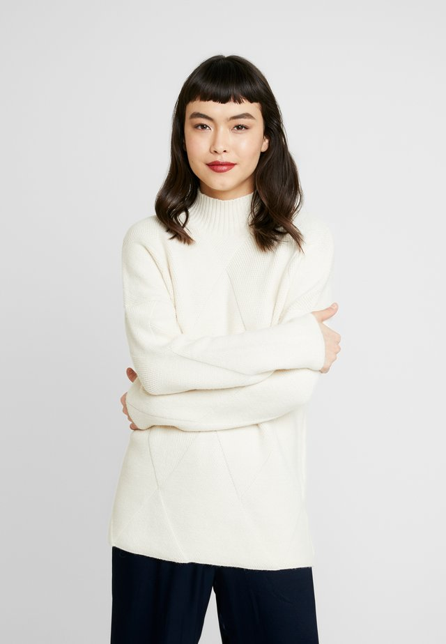 DIAMOND HIGH NECK JUMPER - Pullover - oatmeal