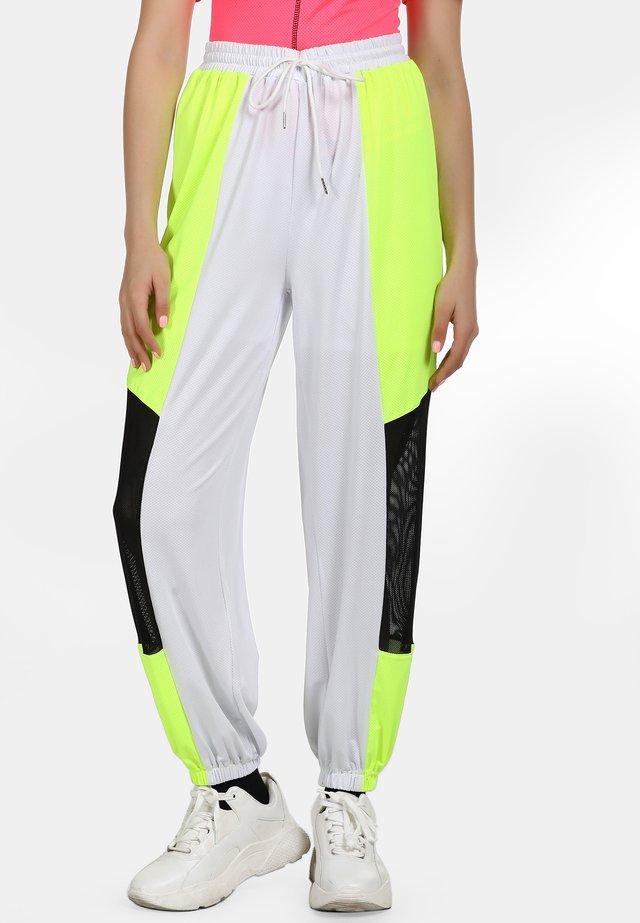 Tracksuit bottoms - neon yellow/black