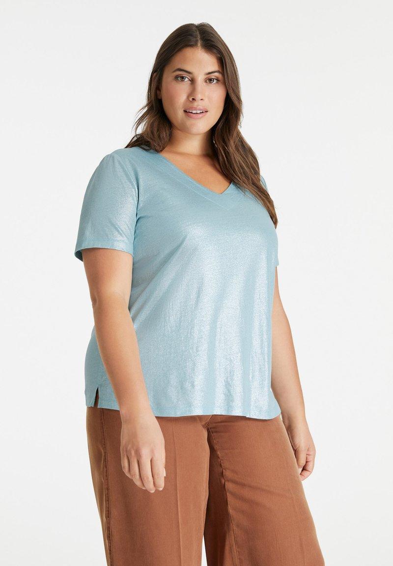 Samoon - Basic T-shirt - cameo blue
