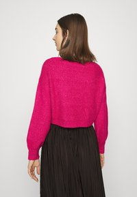 Who What Wear - WIDE NECK  - Cardigan - magenta - 2