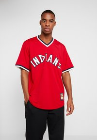 Fanatics - CLEVELAND INDIANS MAJESTIC COOPERSTOWN COOL BASE - T-shirt imprimé - red - 0