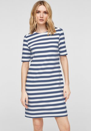 Day dress - blue stripes