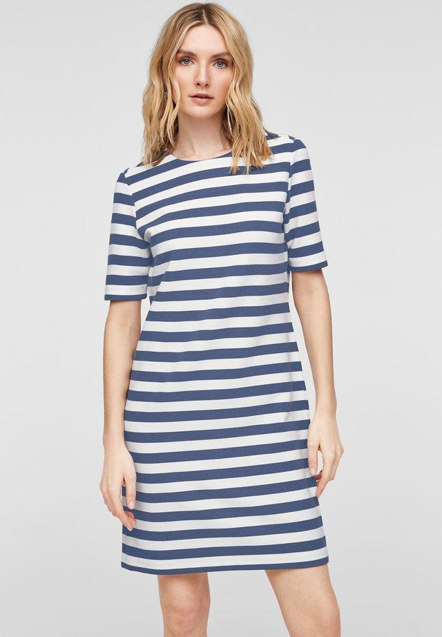 Korte jurk - blue stripes