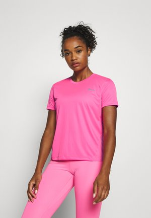 MILER - T-shirts med print - pink glow/silver