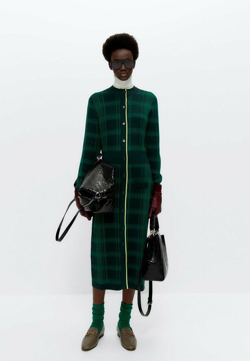Uterqüe - Jumper dress - green