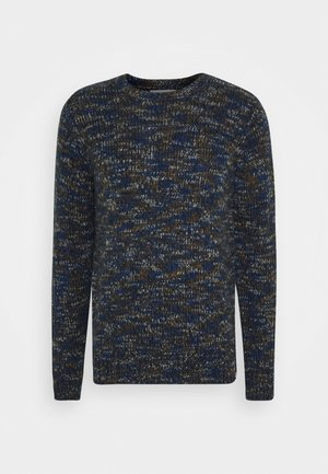 STRUCTURED - Sweter - navy