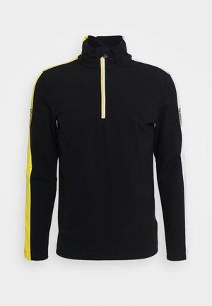FRANKIE - Fleece trui - black/yellow