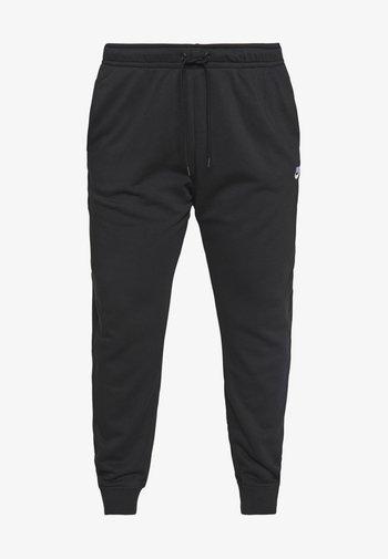 PANT PLUS - Tracksuit bottoms - black/(white)